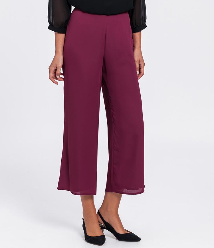 Pantalones culotte morados de Poète
