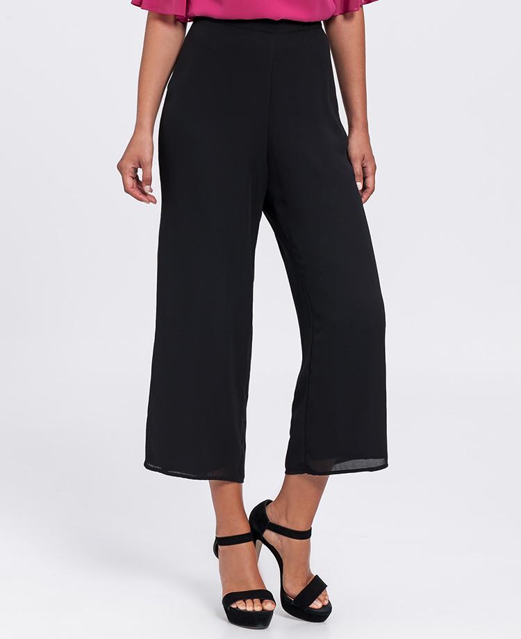 Pantalones culotte negros de Poète