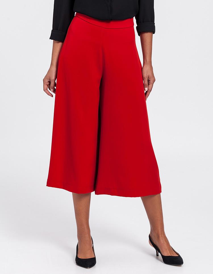 Pantalones culotte rojos de Poète