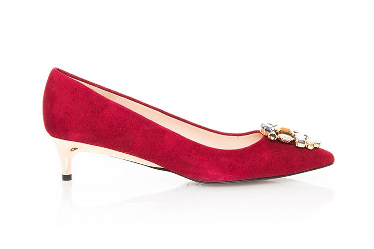 Zapatos de Hannibal Laguna con descuento.. Kitten hells rojos