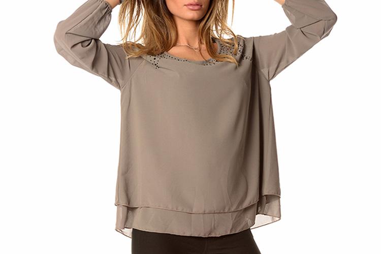 Blusas en Primeriti, gris con apliques