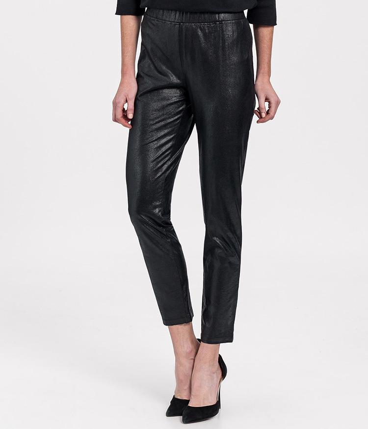 Pantalones efecto piel negros