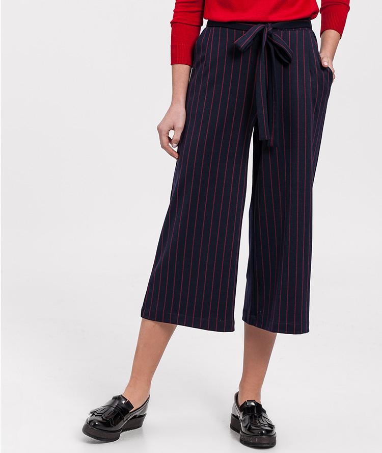 Pantalones culotte rayas