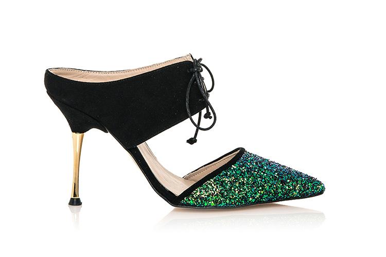 Zapatos de Hannibal Laguna con descuento. Zapato destalonado punta glitter
