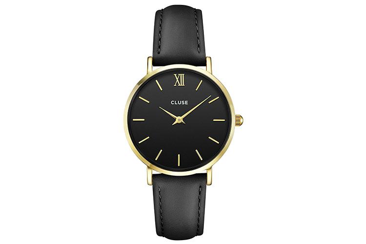 Relojes CLUSE y Daniel Wellington con descuento. Reloj en negro y dorado