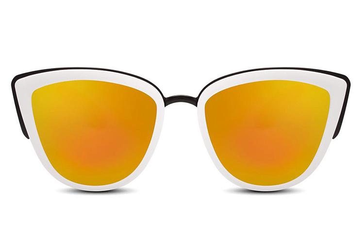 Gafas de sol cat eye blancas