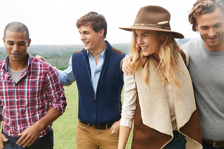 Chaps, marca de Ralph Lauren. Foto de campaña