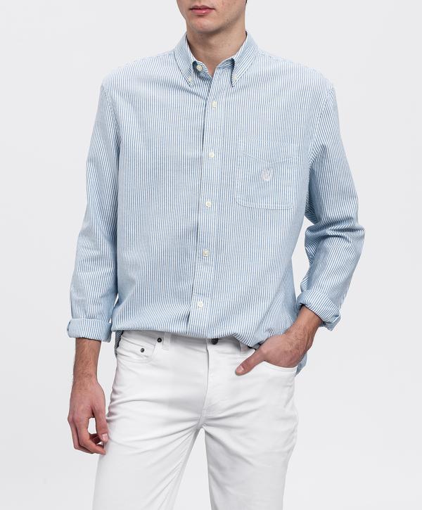 Chaps ralph lauren. Camisa hombre azul de rayas