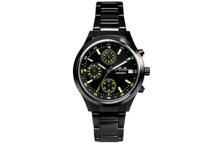 Reloj. Reloj negro metal