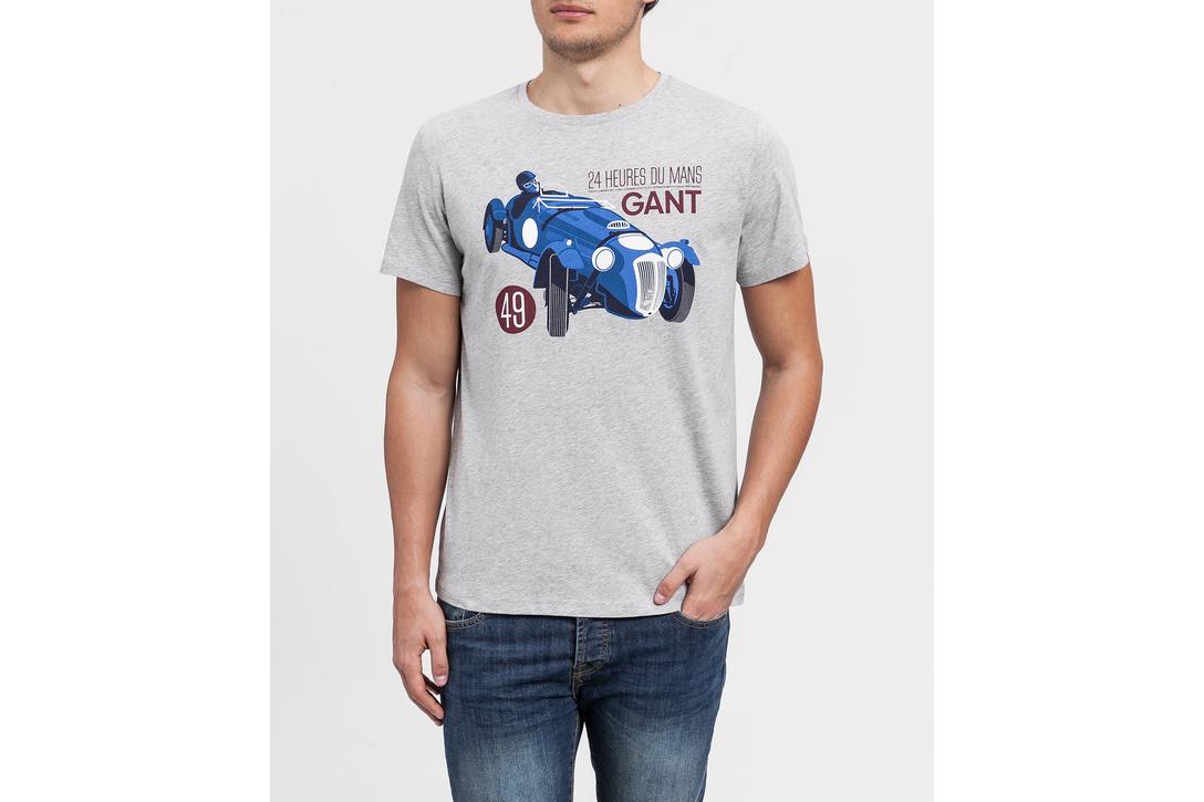 Gant. Camiseta gris