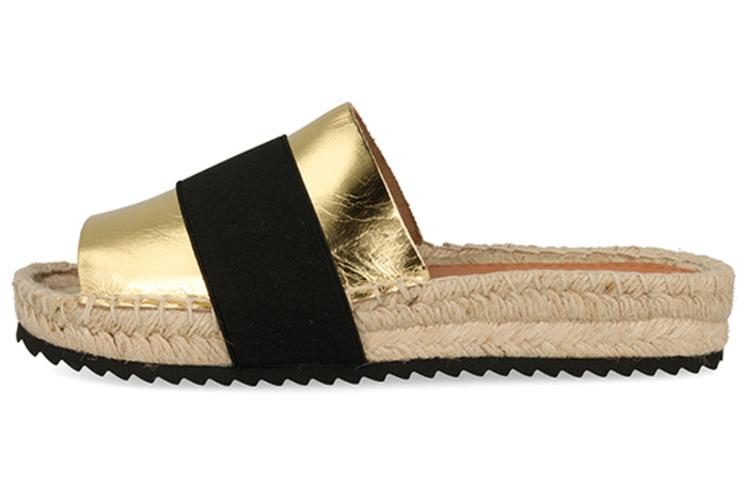 Sandalias. Alpartagatas doradas