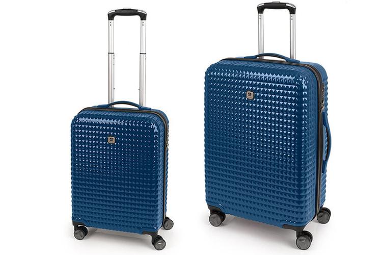 Equipaje de mano. Set maletas azules