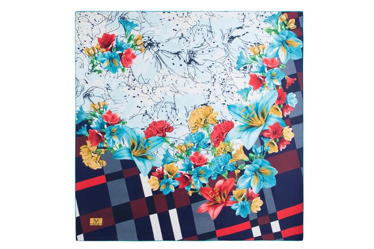 Pañuelo. Flores