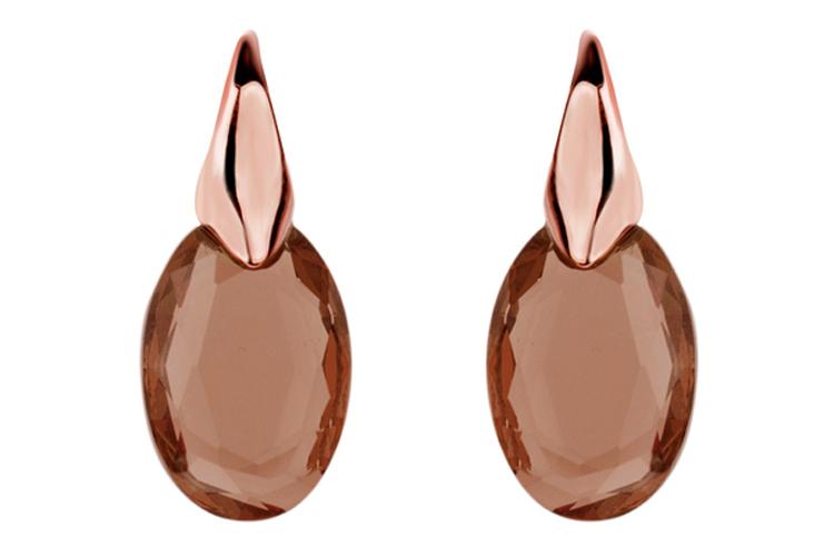 Pendientes. Pendientes piedra marrón