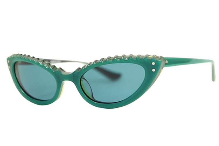 Gafas de sol. Gafas ojo de gato verde