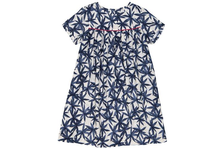 Vestidos para niña. Vestido de palmeras azules