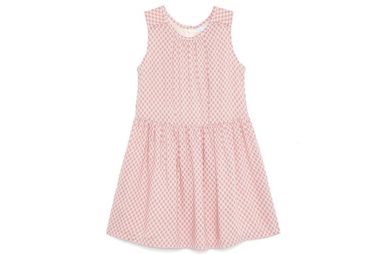 Vestidos para niña. Vestido geométrico rosa