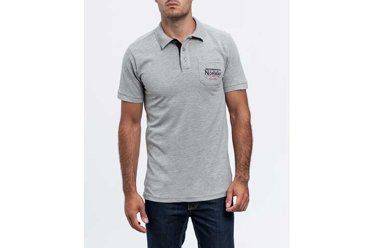 Geographical norway. Polo gris