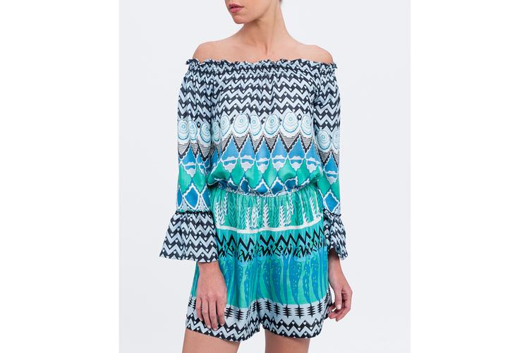 Pantalones para verano. Mono turquesa