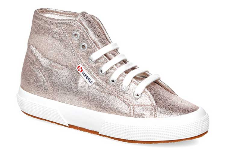 Superga. Botas metalizadas