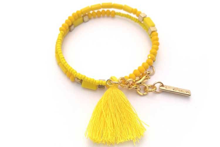 Complementos. Pulsera amarilla