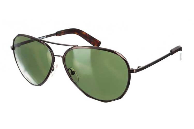 Karl Lagerfeld. Gafas de sol de aviador para hombre