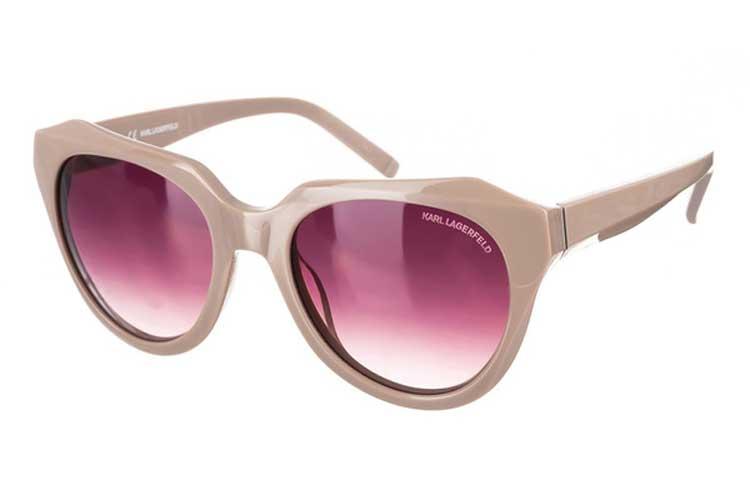 Karl Lagerfeld. Gafas de sol beige de mujer