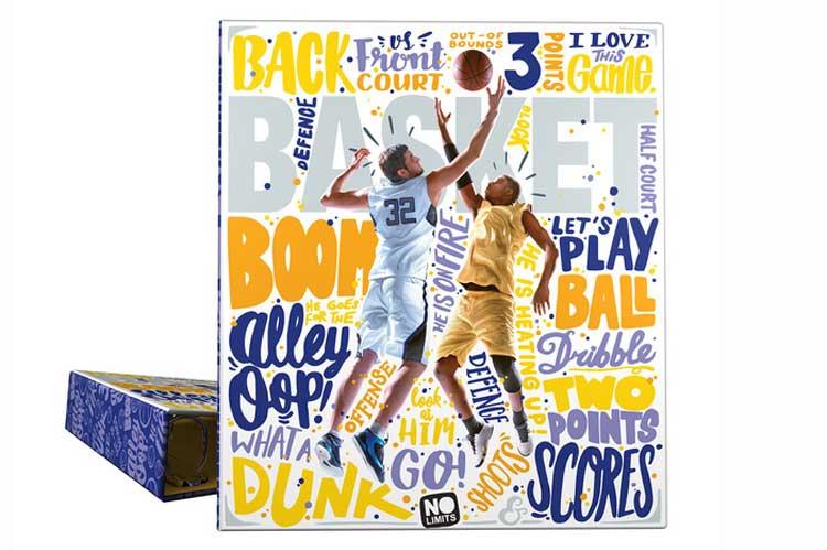 Material Escolar. Carpeta baloncesto