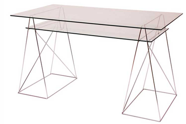 Muebles de diseño. Mesa de cristal