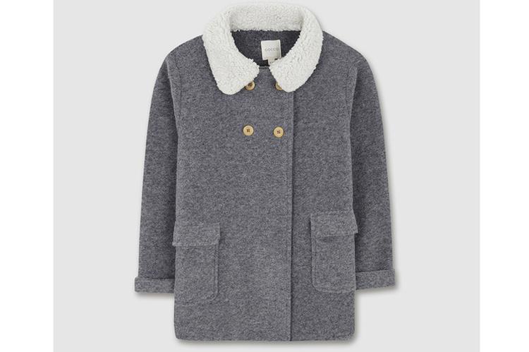 Gocco. Abrigo gris con borrego