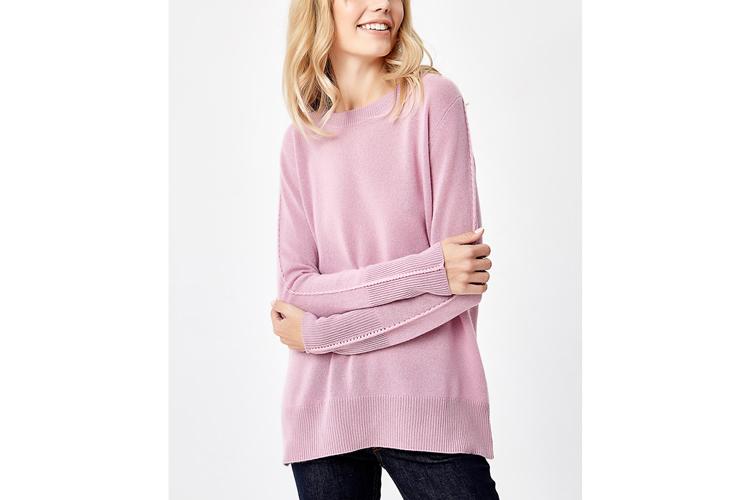 Jerséis de cashmere. Jersey rosa