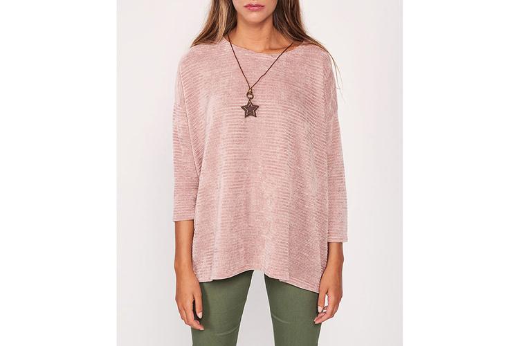 Jerséis de otoño. Jersey rosa palo