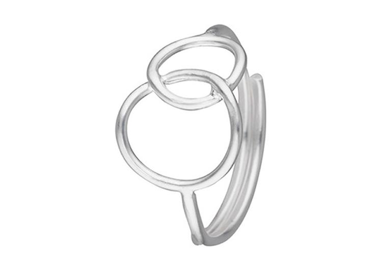 Joyas de plata. Anillo círculos