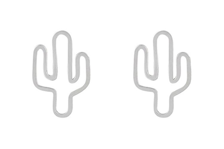 Joyas de plata. Pendientes de cactus