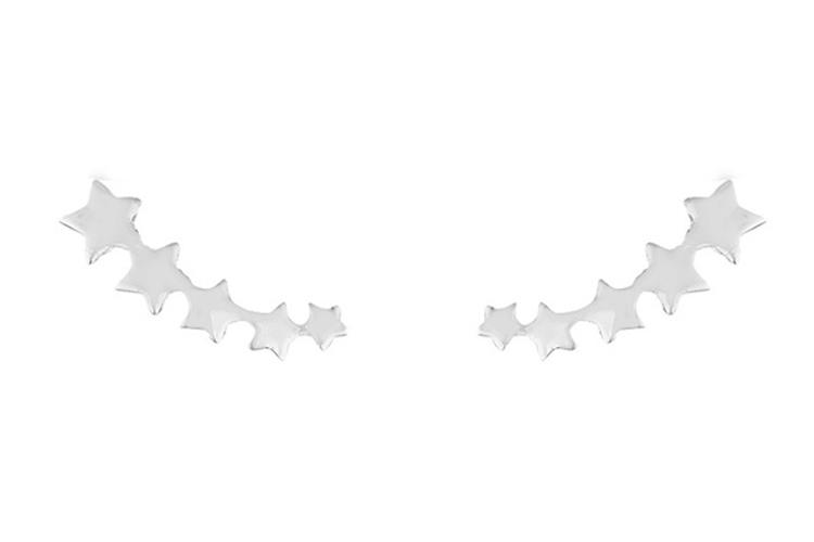 Joyas de plata. Pendientes de estrellas