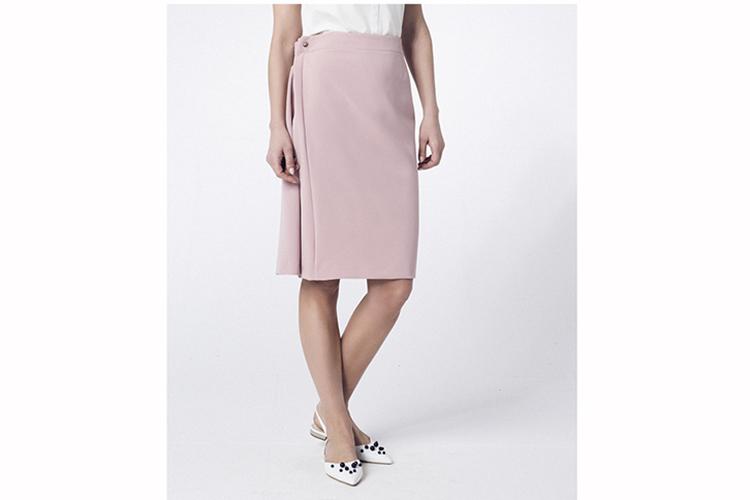 Peperuna. Falda midi rosa