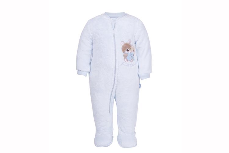 Pijamas infantiles. Pelele azul de bebé