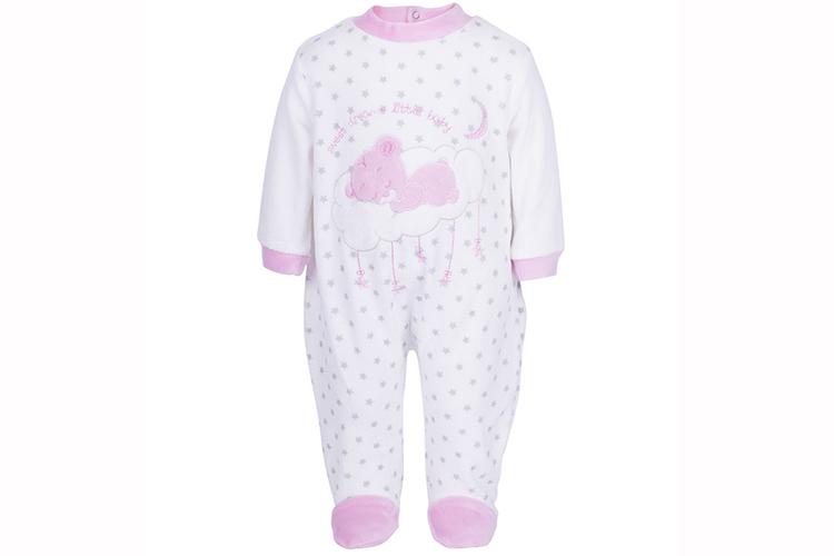 Pijamas infantiles. Pelele rosa de bebé