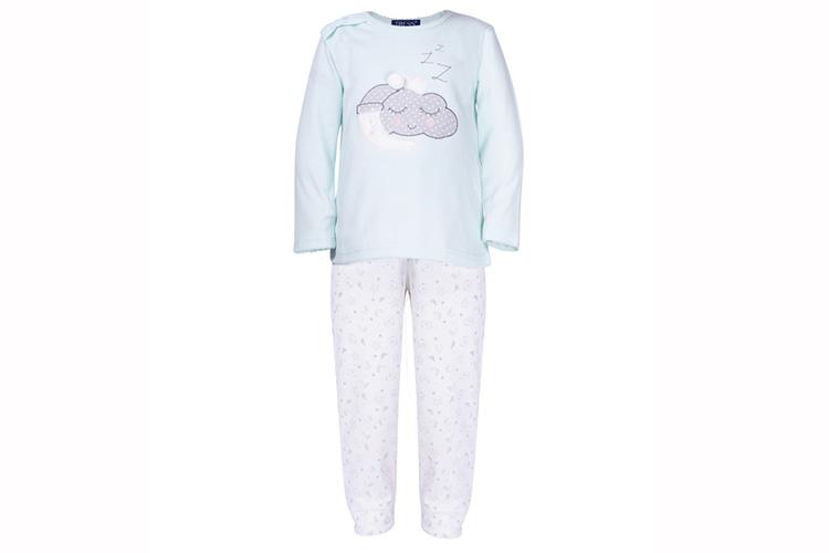 Pijamas infantiles. Pijama de niña turquesa