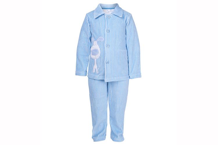 Pijamas infantiles. Pijama de niño a rayas azules
