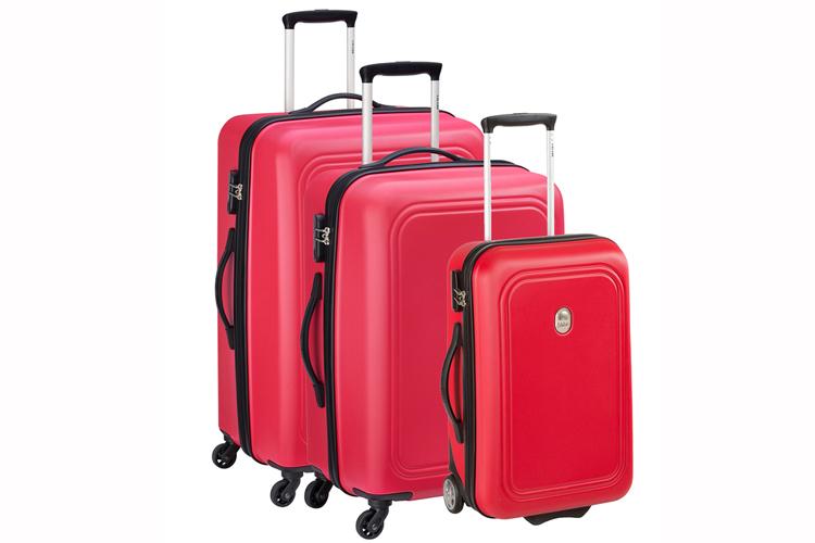 Delsey. Set de maletas rojas