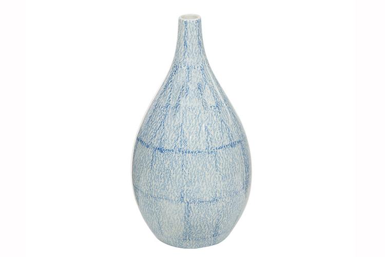 Deco. Jarrón de cerámica azul