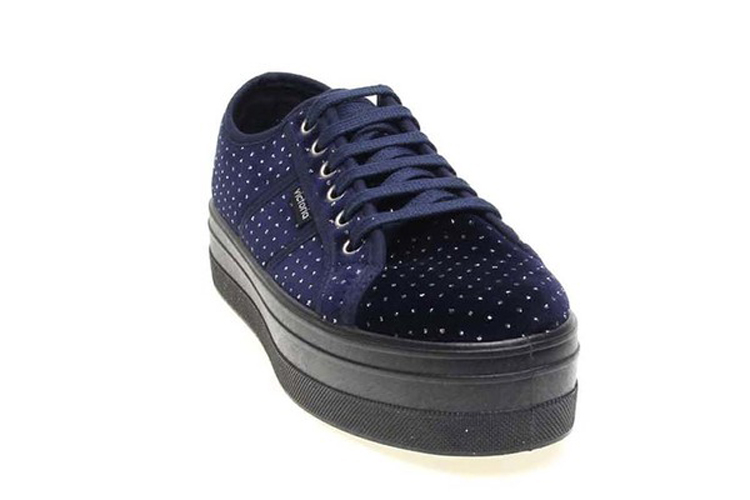 Victoria. Zapatillas terciopelo azul