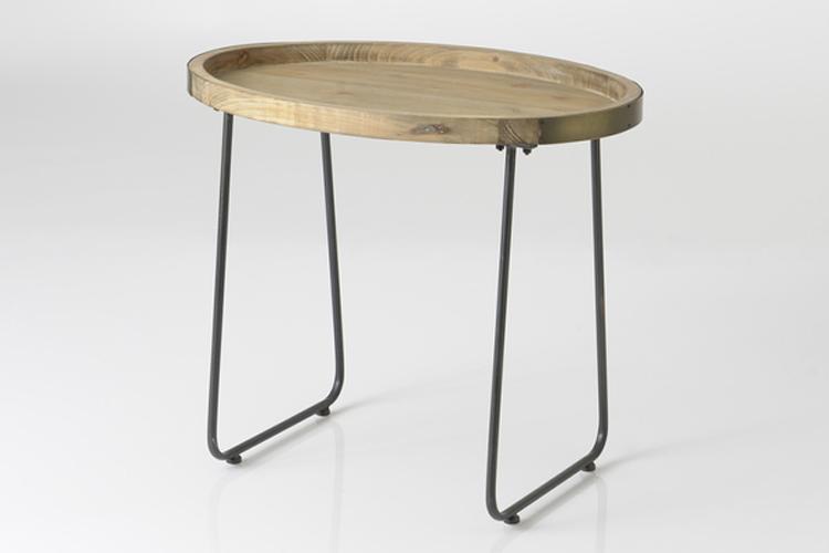 Amadeus. Mesa auxiliar de madera y metal