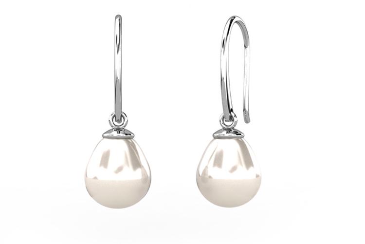 Egoo Jewels. Pendientes con perlas colgando