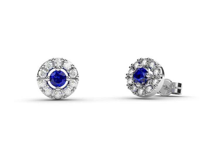 Egoo Jewels. Pendientes con piedra azul