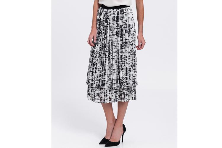Escada. Falda midi bicolor blanca y negra