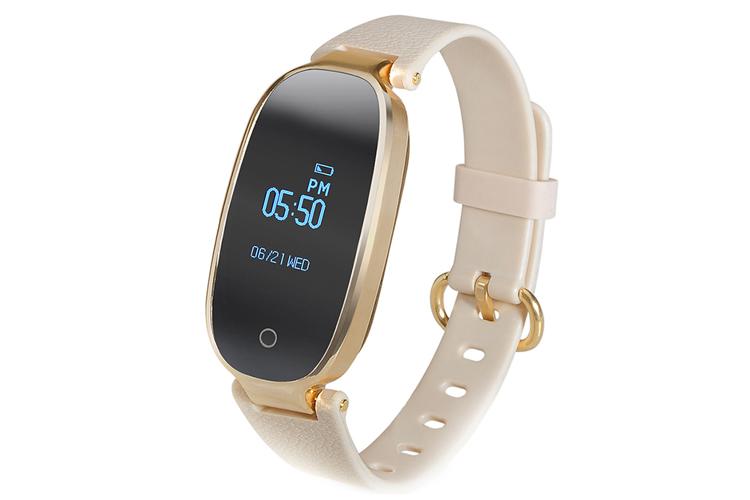 Fierro. Smartband blanca y dorada