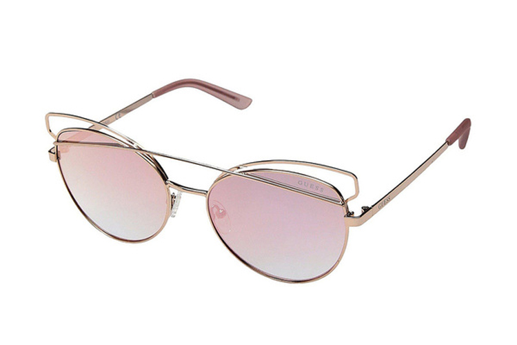 Guess. Gafas de sol de metal rosas