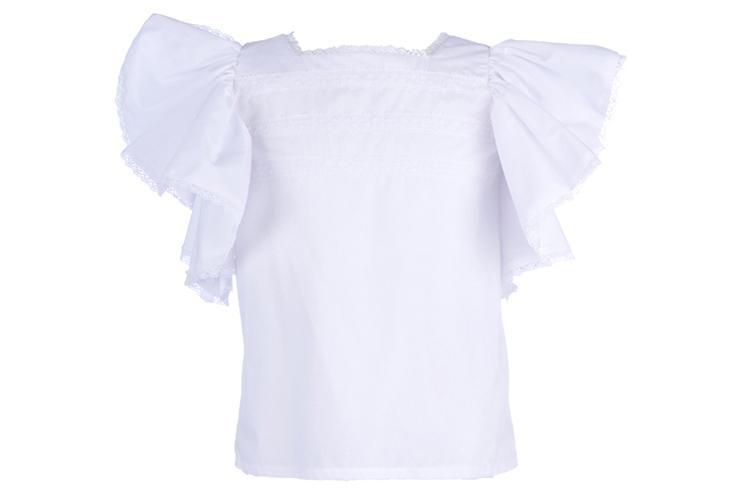 La Ormiga. Camisa de niña con volantes